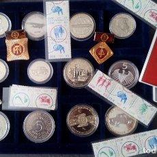Medallas temáticas: INTERESANTE GRAN LOTE MIXTO DE ALEMANIA MONEDAS PLATA Y OTROS MEDALLAS MILITARES SELLOS DEL LA DDR. Lote 120093687