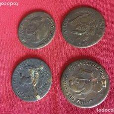 Medallas temáticas: 4 MONEDAS DISNEY AÑOS 70. Lote 120204784