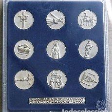 Medallas temáticas: COFRADIA PURISIMA SANGRE DE SAGUNTO - JUEGO DE MEDALLAS. Lote 120348111