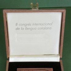 Medallas temáticas: MEDALLA DE BRONCE. II CONGRESO DE LA LENGUA CATALANA. SUBIRACH. 1985. . Lote 120412307