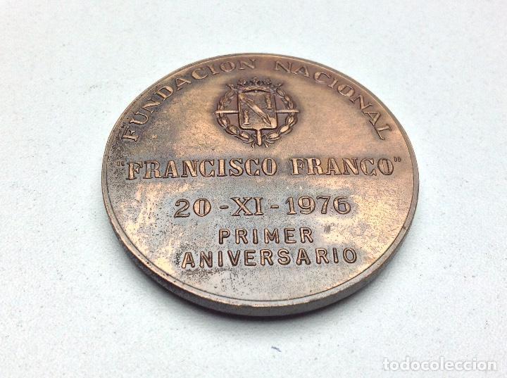 Medallas temáticas: MEDALLA FUNDACION NACIONAL FRANCISCO FRANCO - 20 - 11 - 1976 - PRIMER ANIVERSARIO - Foto 3 - 120498975