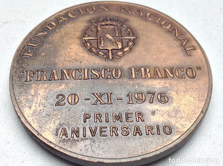 Medallas temáticas: MEDALLA FUNDACION NACIONAL FRANCISCO FRANCO - 20 - 11 - 1976 - PRIMER ANIVERSARIO - Foto 4 - 120498975