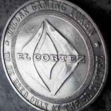 Medallas temáticas: INTERESANTE DOLLAR GAMING TOKEN AÑO 1965 DEL FAMOSO CASINO Y HOTEL EL CORTEZ DE LAS VEGAS DESDE 1941. Lote 120801991