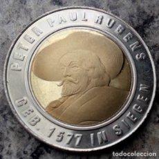 Medallas temáticas: CURIOSA MONEDA CON LA IMAGEN DE RUBENS Y UN CASTILLO DE LA CIUDAD SIEGEN EN ALEMANIA DONDE NACIÓ. Lote 120907643