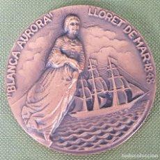 Medallas temáticas: MEDALLA DE BRONCE. VELERO BLANCA AURORA. SALON NAUTICO BARCELONA 1980. . Lote 121738711