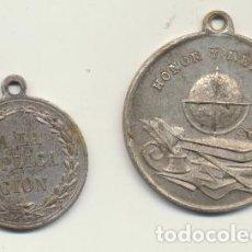 Medallas temáticas: 2 MEDALLAS ESCOLARES A LA APLICACIÓN. AE - 31 Y AE - 25. PRIMERA MITAD DEL SIGLO XX.. Lote 121834583