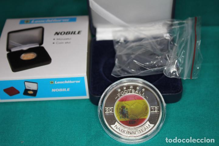 ESPAÑA, MONEDA CONMEMORATIVA DE FÚTBOL MUNDIAL RUSIA 2018 (Numismática - Medallería - Temática)