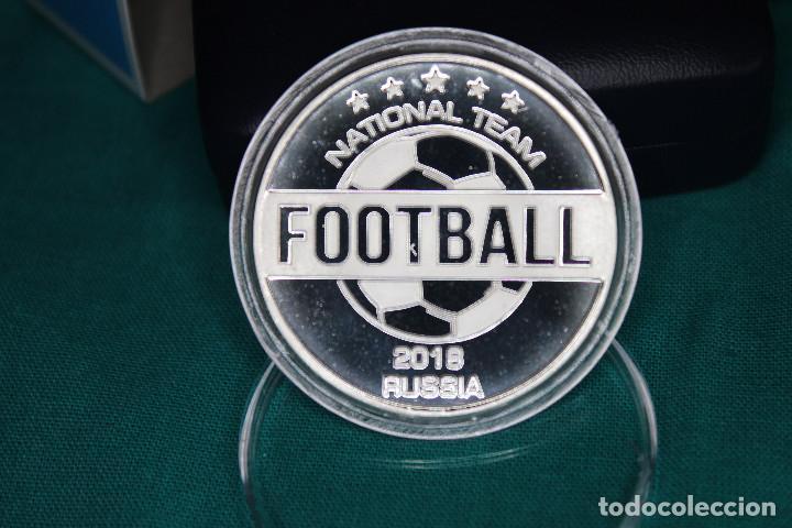 Medallas temáticas: España, Moneda conmemorativa de Fútbol Mundial Rusia 2018 - Foto 8 - 122898335