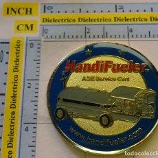 Medallas temáticas: MEDALLA MONEDA. HANDIFUELER. REPOSTAJE GASOLINA. ESTADOS UNIDOS 40 GR. Lote 123059747