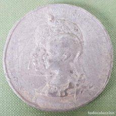 Medallas temáticas: MEDALLA DE METAL PLATEADO. ALFONSO XIII Y MARIA CRISTINA. EXPOSICION UNIVERSAL 1888. . Lote 123099303