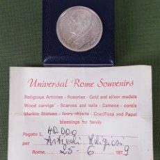 Medallas temáticas: MEDALLA DE PLATA 925. JUAN PABLO II PONTIFICE. ESTUCHE ORIGINAL. ITALIA. 1979. . Lote 123333827