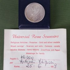 Thematic medals - MEDALLA DE PLATA 925. JUAN PABLO II PONTIFICE. ESTUCHE ORIGINAL. ITALIA. 1979. - 123333827