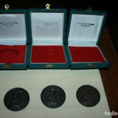 Medallas temáticas: PONTEVEDRA.3 MEDALLAS DE COBRE BIENAL NACIONAL DE ARTE II-III Y IV AÑOS 70.CON CAJAS. 5 CMS,DIAM. Lote 126964851