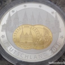 Medallas temáticas: PRECIOSA MONEDA PLATA Y ORO CONMEMORATIVA A ALEMANIA 2006 AÑO DEL MUNDIAL DE FUTBOL Y EUROPA. Lote 127822762