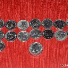 Medallas temáticas: LOTE DE MEDALLAS COLECCIÓN DE LA SELECCIÓN AÑO 2000, 21 MEDALLAS EN TOTAL (5 REPETIDAS). Lote 128009051