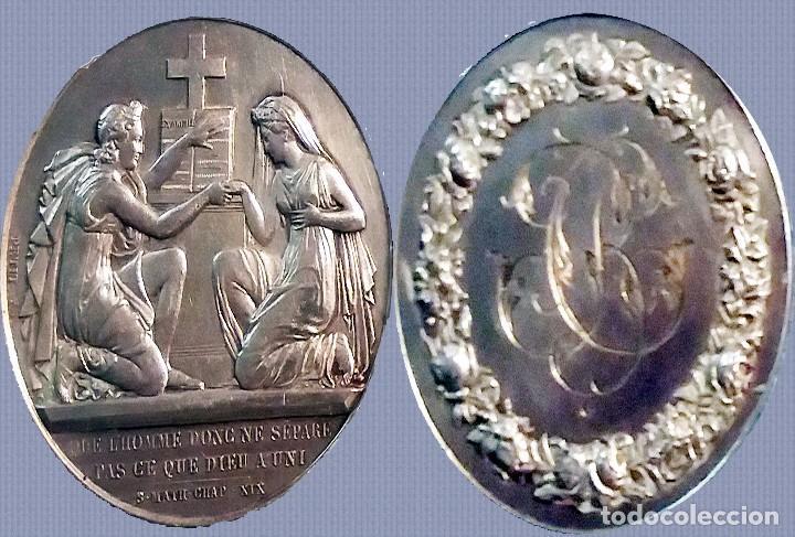 FRANCIA.- MEDALLA PLATA AG, 16,5 GR. 4 CM. DIÁMETRO. GRABADO PETIP F. 3 OCT. 1904 REV INICIALES (Numismática - Medallería - Temática)