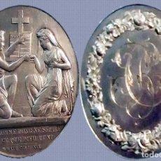 Medallas temáticas: FRANCIA.- MEDALLA PLATA AG, 16,5 GR. 4 CM. DIÁMETRO. GRABADO PETIP F. 3 OCT. 1904 REV INICIALES. Lote 128146795