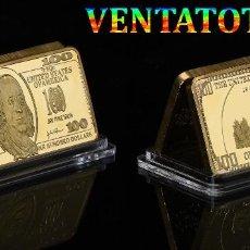 Medallas temáticas: LINGOTE 100 DOLARES ORO DE 24 KILAT 44 GRAMOS(FRANKLIN - PRESIDENTE DE 1785 A 1788 ESTADOS UNI)N6. Lote 184898272