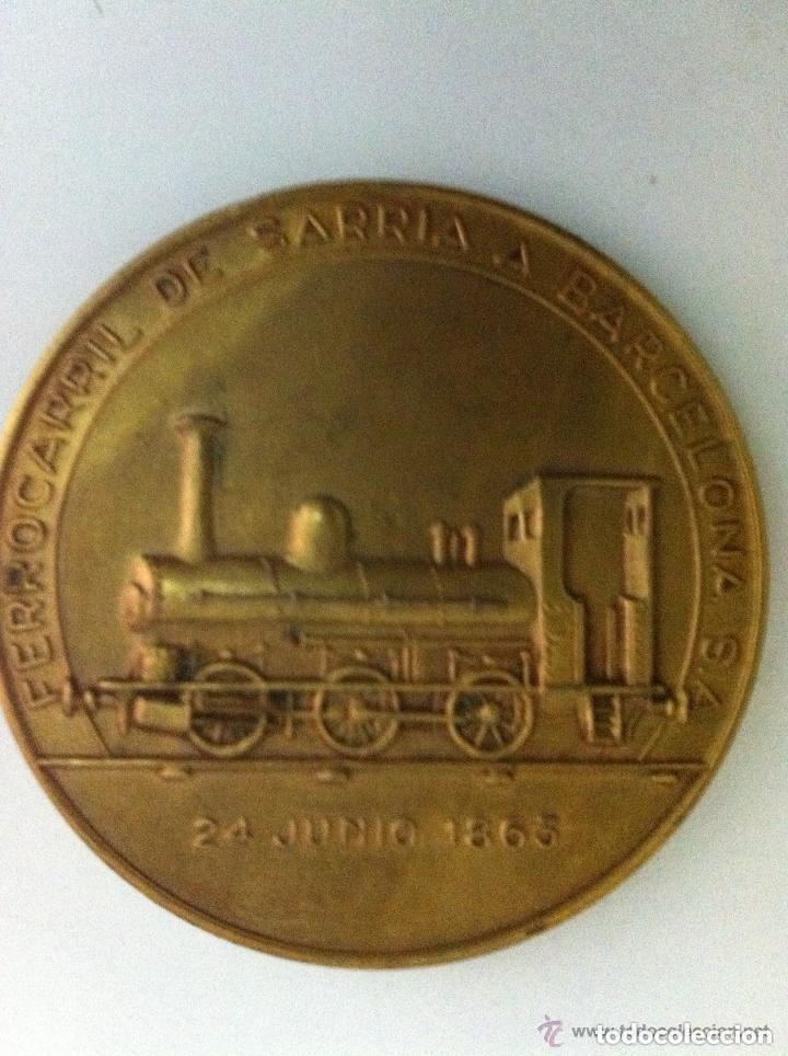 FERROCARRIL SARRIÁ - 1º.CENTENARIO- 1963 (Numismática - Medallería - Temática)