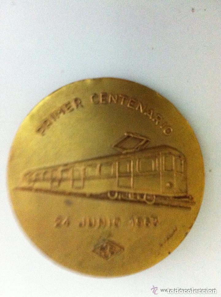Medallas temáticas: ferrocarril sarriá - 1º.centenario- 1963 - Foto 2 - 128520007