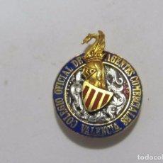 Medallas temáticas: INSIGNIA DEL COLEGIO OFICIAL DE AGENTES COMERCIALES (VALENCIA). Lote 128721899