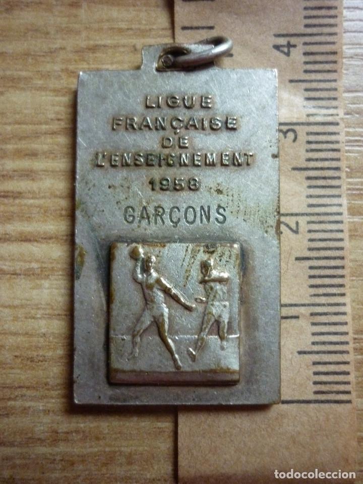 Medallas temáticas: MEDALLA LIGA FRANCESA USEP L'ENSEIGNEMENT 1958 - Foto 2 - 128803459