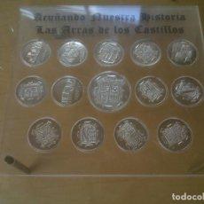 Medallas temáticas: LAS MONEDAS DE LOS CASTILLOS DE VALLADOLID PLATA. Lote 130188959