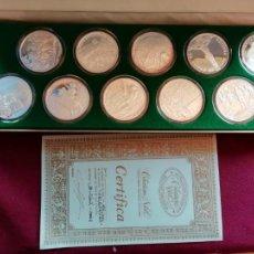Medallas temáticas: VELÁZQUEZ. ESTUCHE CON 10 ONZAS DE PLATA PURA + CERTIFICADO. ACUÑACIONES NUMERADAS COLECCIONES NOBEL. Lote 130413030