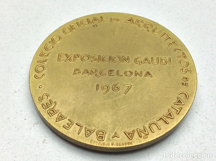Medallas temáticas: MEDALLA EXPOSICION GAUDI BARCELONA 1967 - COLEGIO OFICIAL DE ARQUITECTOS - Foto 2 - 130618698