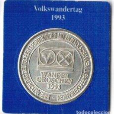 Medallas temáticas: ALEMANIA - WANDER GROSCHEN 1993 - HANNOVER. Lote 131848750