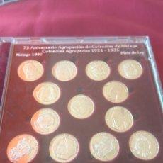 Medallas temáticas: MEDALLAS PLATA COFRADIAS MALAGA AGRUPACIÓN 1921-35. Lote 132165823