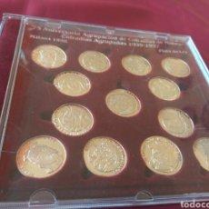 Medallas temáticas: MEDALLAS PLATA COFRADÍAS DE MALAGA AGRUPADAS 1939-97. Lote 132166126
