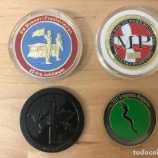 Medallas temáticas: LOTE DE 4 MEDALLAS DIFERENTES (NUEVAS) - TEMATICA MILITAR. Lote 132394670