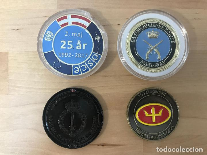 Medallas temáticas: LOTE DE 4 MEDALLAS DIFERENTES (NUEVAS) - TEMATICA MILITAR - Foto 2 - 132394670