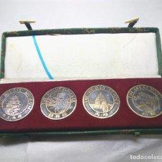 Medallas temáticas: COLECCIÓN DE 4 MEDALLAS CONMEMORATIVAS CHINAS EN SU ESTUCHE. Lote 132429262