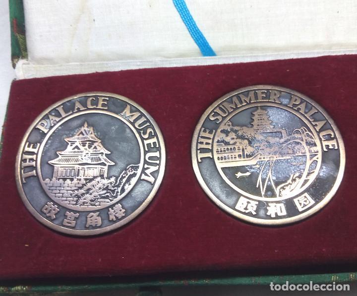 Medallas temáticas: COLECCIÓN DE 4 MEDALLAS CONMEMORATIVAS CHINAS EN SU ESTUCHE - Foto 2 - 132429262