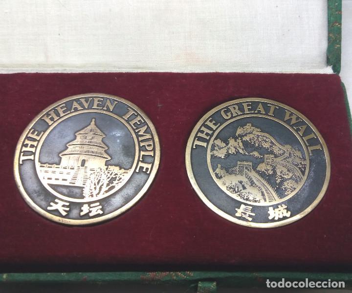 Medallas temáticas: COLECCIÓN DE 4 MEDALLAS CONMEMORATIVAS CHINAS EN SU ESTUCHE - Foto 3 - 132429262
