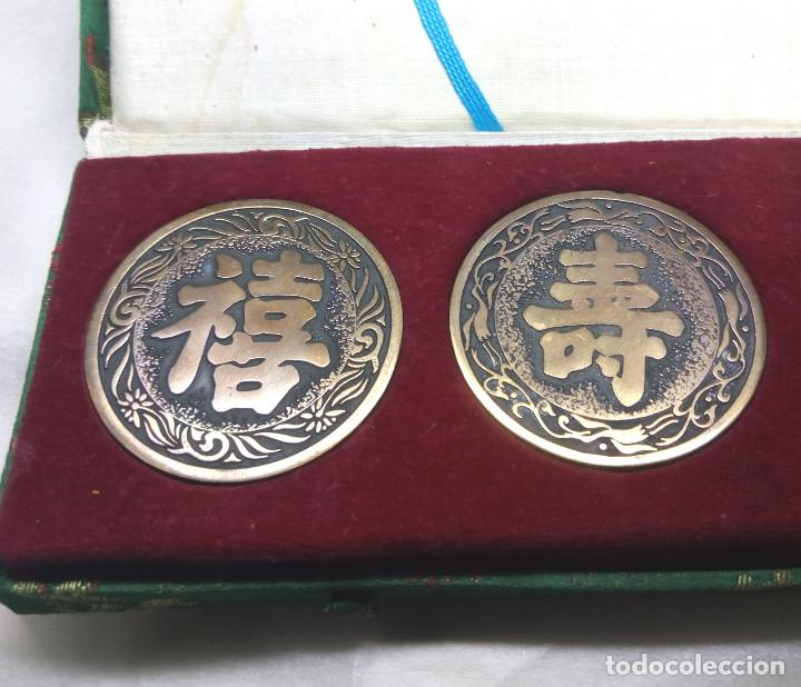 Medallas temáticas: COLECCIÓN DE 4 MEDALLAS CONMEMORATIVAS CHINAS EN SU ESTUCHE - Foto 4 - 132429262