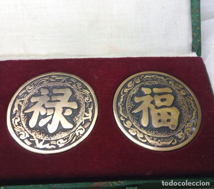 Medallas temáticas: COLECCIÓN DE 4 MEDALLAS CONMEMORATIVAS CHINAS EN SU ESTUCHE - Foto 5 - 132429262