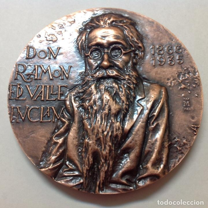 MEDALLA DE BRONCE DE LA FNMT, A RAMON DEL VALLE INCLÁN, 8,5 CMS. DE DIÁMETRO. NUEVA, DE JLH (Numismática - Medallería - Temática)