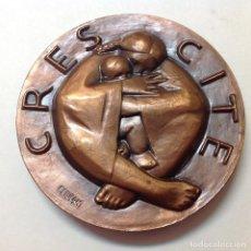 Medallas temáticas: MEDALLA DE BRONCE DE LA FNMT, CRECED Y MULTIPLICAOS, FIRMADA FERRAN, 8,5 CM. DE DIÁMETRO. NUEVA,. Lote 132459674