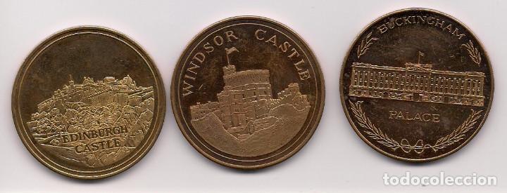 GRAN BRETAÑA, MEDALLAS DE CASTILLOS Y PALACIOS (Numismática - Medallería - Temática)