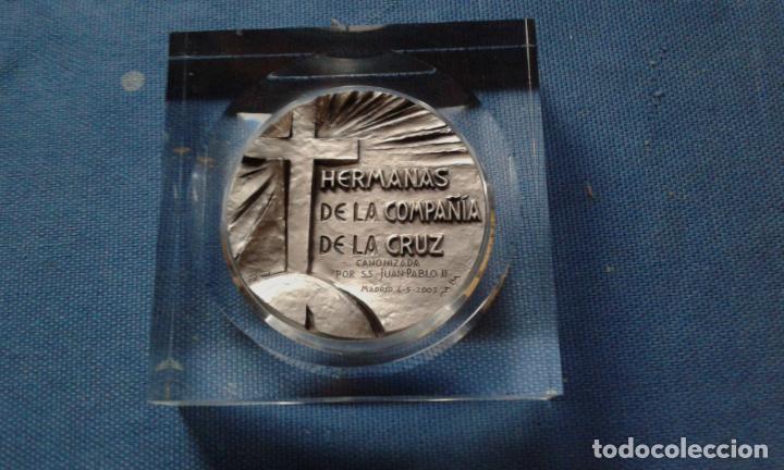 Medallas temáticas: MEDALLA SANTA ANGELA D LA CRUZ - HERMANAS D LA COMPAÑIA D LA CRUZ - CANONIZADA EN MADRID 04/05/2003 - Foto 2 - 134139630