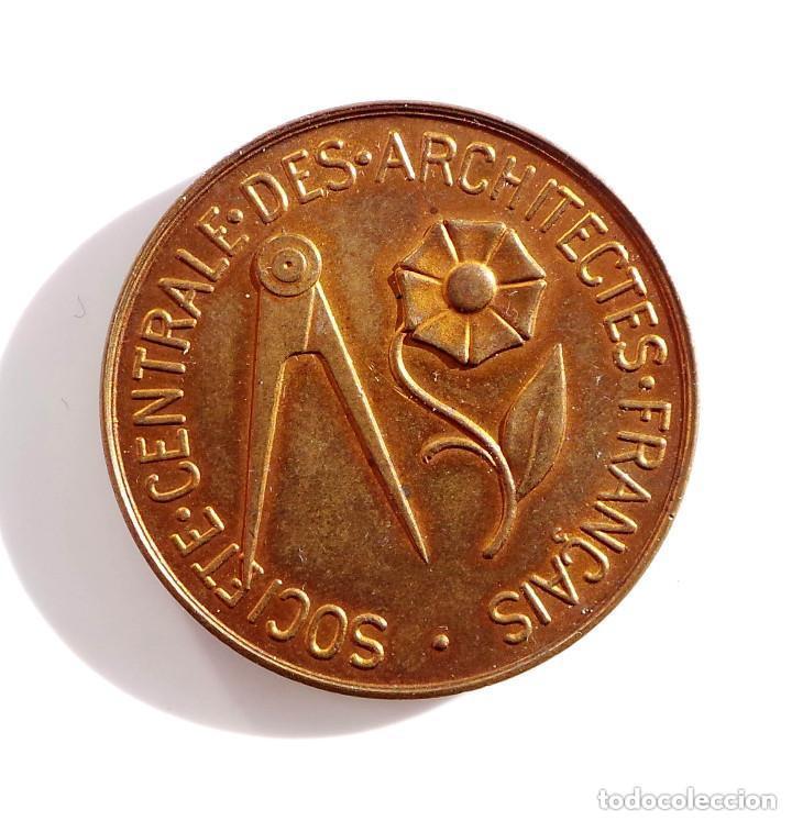 Medallas temáticas: MEDALLA - ARCHITECTES FRANCAIS - SOCIEDAD DE ARQUITECTOS FRANCESES - 3,4 CM DE DIÁMETRO - Foto 2 - 134791646