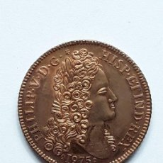 Médailles thématiques: MEDALLA COBRE FELIPE V. CONVENCION NUMISMATICA 1975.. Lote 135114590