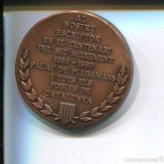 Medallas temáticas: MEDALLA JOSEP Mª FOLCH I TORRES-CENTENARI DEL SEU NEIXEMENT-1880-1980. Lote 135176202