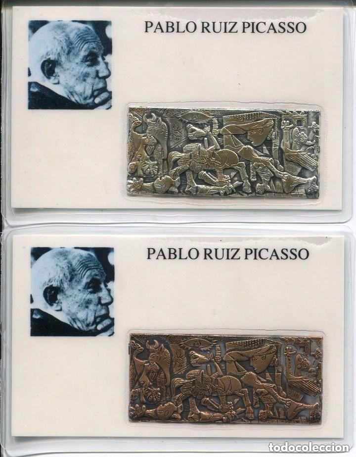 GUERNICA- PABLO RUIZ PICASSO- 2 EJEMPLARES- RARO (Numismática - Medallería - Temática)