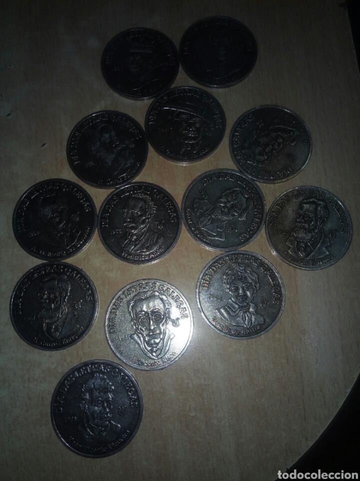 MEDALLAS DIA DAS LETRAS GALLEGAS (Numismática - Medallería - Temática)