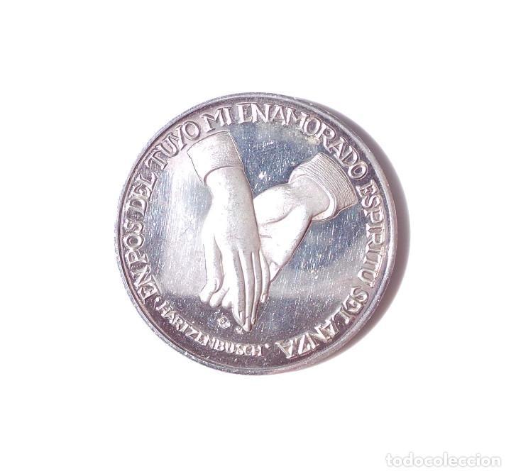 AMANTES DE TERUEL. MEDALLA DE PLATA PURA. 26 GRAMOS (Numismática - Medallería - Temática)