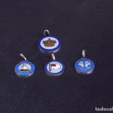 Medallas temáticas: LOTE DE 4 MEDALLAS PEQUEÑAS. BANDERA DE BILBAO, MOTIVOS MARINOS.... Lote 137302362